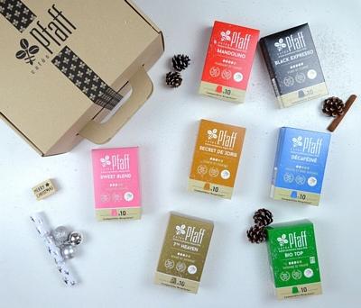 Coffret : Nos capsules compatibles Nespresso®* 14x10 capsules