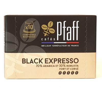 10 capsules BLACK EXPRESSO compatibles Nespresso®*