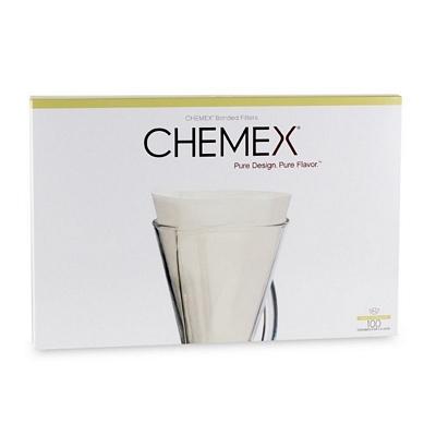 Filtres blancs pour cafetière 1-3 tasses - CHEMEX x 100
