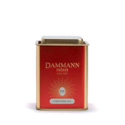 Christmas Tea rouge Dammann Frères - Boite métal 90g