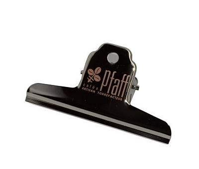 Clip pour sac à café siglé Cafés Pfaff