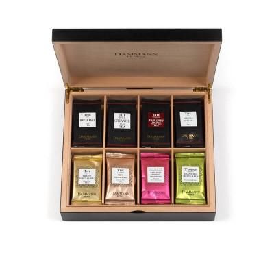 Coffret bois assortiment de thés et infusions : 48 sachets Cristal®