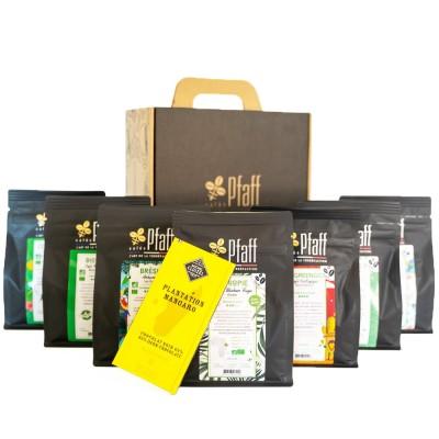 Coffret café :  Nos cafés biologiques (7x250gr)