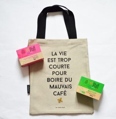 """Coffret Tote Bag Version Capsules """"La vie est trop courte pour boire du mauvais café !"""""""
