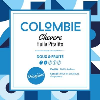 Café en grain Colombie Huila Pitalito - Chevere - Blend Décaféiné