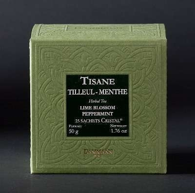 Tilleul - menthe, boîte 25 sachets Cristal