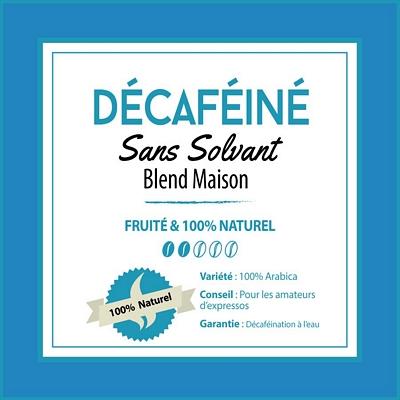 BLEND MAISON - Café Décaféiné - sans solvant - café moulu