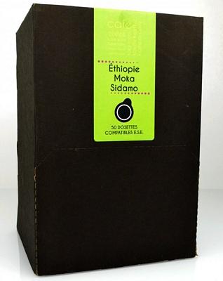 CAFÉ - DOSETTES ESE - MOKA SIDAMO  (X50)