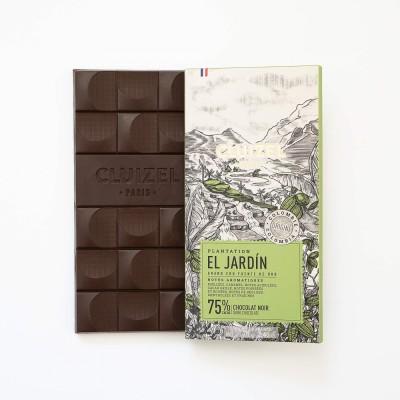 Tablette El Jardin chocolat noir 75% - Chocolatier Cluizel