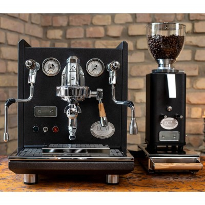 Synchronika Anniversary Anthracite+ Moulin Anthracite - Kit machine expresso