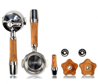 Ensemble de poignées & levier en bois d'olivier-pour machine à vanne rotative ECM