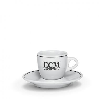 Set de 6 tasses à expresso avec sous tasses ECM