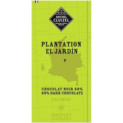 Tablette El Jardin chocolat noir 69% - Chocolatier Cluizel