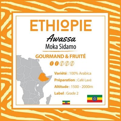 Kilo d'ETHIOPIE - Moka Sidamo - Awassa G2 en grain