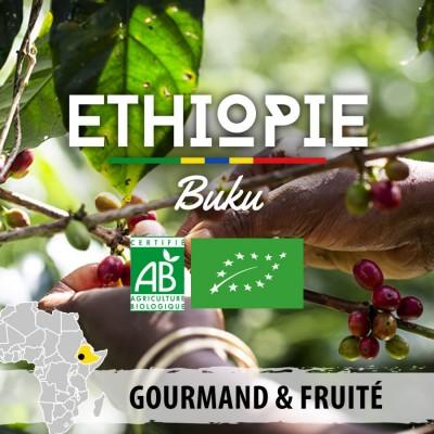 Café en grain BIO ETHIOPIE - Guji Hambela - Buku