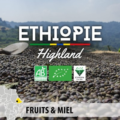 Café moulu BIO ETHIOPIE - Wallagga Anflloo Highland