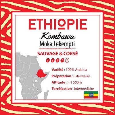 Café en grain ETHIOPIE - Moka Lekempti - Kombawa G4