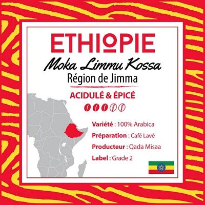 Café grain Ethiopie: Limmu Kossa - Jimma