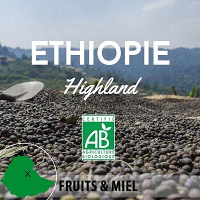 Café ETHIOPIE - Wallagga - Anflloo Highland Q2 BIO - café moulu