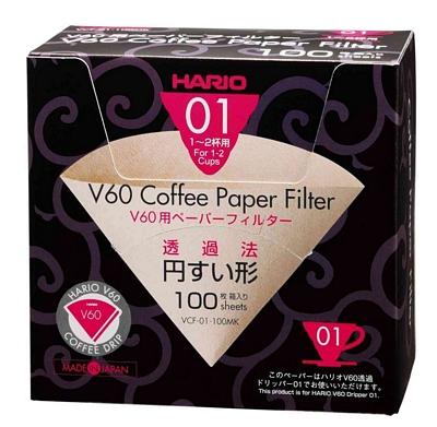 Filtre papier pour dripper Hario VDC -1 tasse x 100