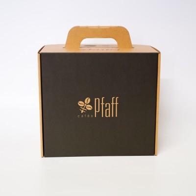 Boite cadeau café: coffret en kraft grand format