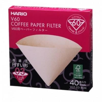 Filtre papier pour dripper Hario VDC -1-6 tasses x 40