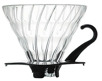 Dripper V60 en verre Black 1–6 tasses - Hario