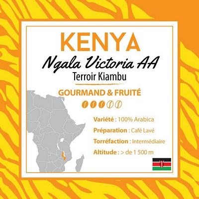 Café en grain du Kenya - Ngala Victoria - 1Kg
