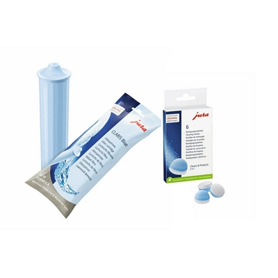 Kit entretien machine Jura (cartouche filtrante claris blue+pastilles de nettoyages)