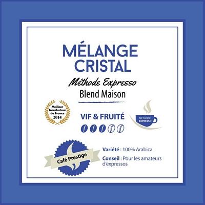 Café en grain Mélange Cristal: Blend maison