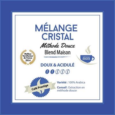 Café grain Mélange CRISTAL: Méthode douce