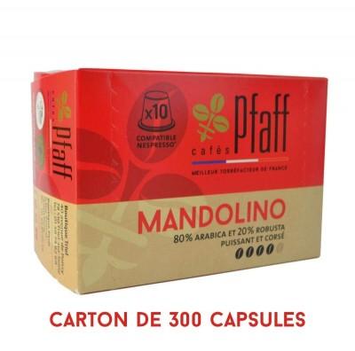 300 capsules MANDOLINO compatibles Nespresso®*