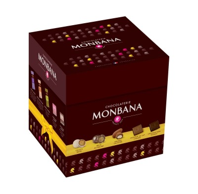 Tulipe boite de gourmandises et de chocolats - Monbana
