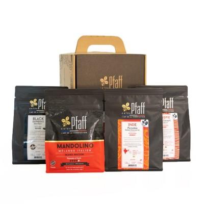 Coffret café : Nos cafés de caractère (4x250 Gr)