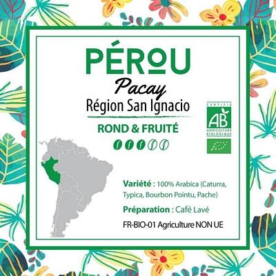 Café PEROU BIO - San Ignacio - Région Quilabamba - café moulu