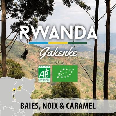 Café en grain BIO RWANDA - Gakenke - Rubyniero 15+