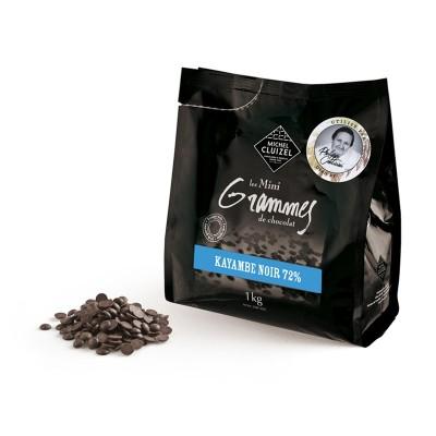 Mini grammes de chocolat noir 72% - Chocolatier Cluizel