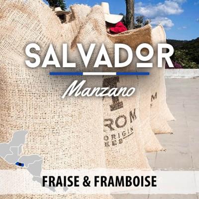 Café en grain Salvador Manzano - Bourbon rouge - Villa Galicia