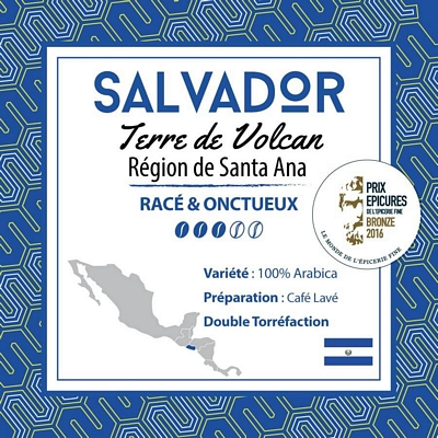 Café en grain SALVADOR - Terre de Volcan - Région de Santa Ana