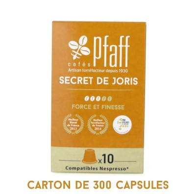 300 capsules SECRET DE JORIS compatibles Nespresso®*