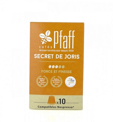10 capsules SECRET DE JORIS compatibles Nespresso®*