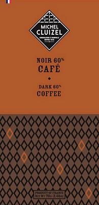 Tablette Noir au Café - chocolatier Cluizel