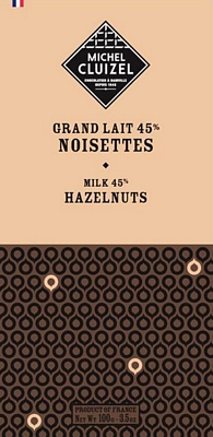 Tablette Grand Lait aux Noisettes - chocolatier Cluizel