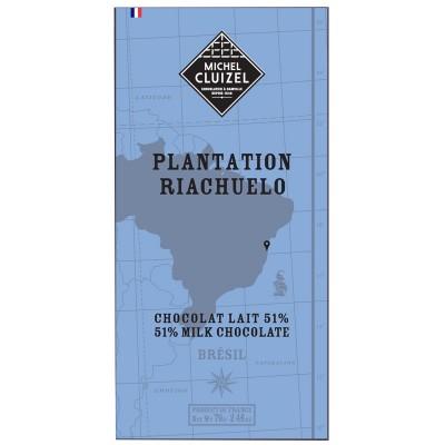 Tablette Plantation Riachuelo Lait 51% chocolat - Chocolatier Cluizel