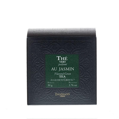 Thé vert Jasmin Dammann - boîte 25 sachets Cristal