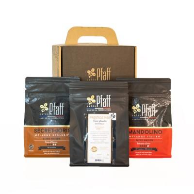 Coffret café : La valisette du torréfacteur (3x250 Gr)