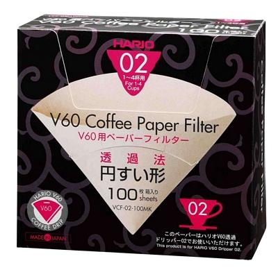 Filtre papier pour dripper Hario VDC 2 - 4 tasses x 100