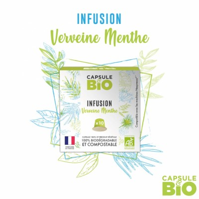 Capsule infusion VERVEINE MENTHE bio - boite de 10 capsules