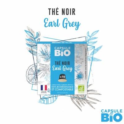 Capsule thé NOIR EARL GREY bio - boite de 10 capsules